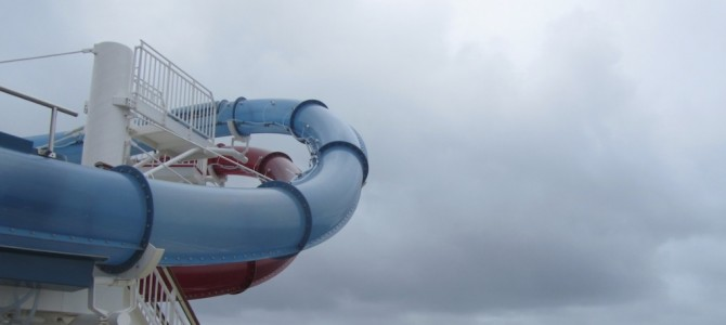 No water slide today …